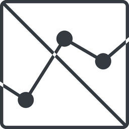 analytics-thin thin, line, down, square, graph, analytics, chart, prohibited, analytics-thin free icon 256x256 256x256px