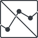 analytics-thin thin, line, down, square, graph, analytics, chart, prohibited, analytics-thin free icon 128x128 128x128px