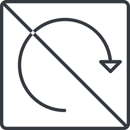 undo-thin thin, line, left, square, horizontal, mirror, arrow, prohibited, reload, refresh, undo, redo, undo-thin, restore free icon 256x256 256x256px