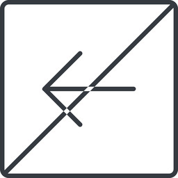 arrow-simple-thin thin, line, left, square, arrow, direction, prohibited, arrow-simple-thin free icon 256x256 256x256px
