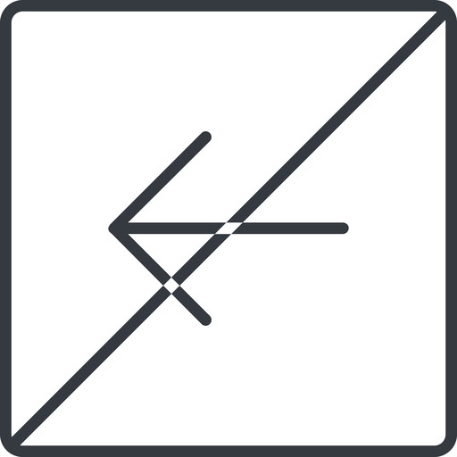 arrow-simple-thin thin, line, left, square, arrow, direction, prohibited, arrow-simple-thin free icon 512x512 512x512px
