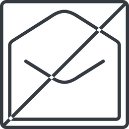 open-envelope-thin thin, line, square, horizontal, mirror, envelope, mail, message, email, prohibited, contact, open, read, open-envelope, open-envelope-thin free icon 256x256 256x256px