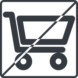 shopping-cart-wide thin, line, square, horizontal, mirror, prohibited, shopping, cart, shop, buy, trolley, shopping-cart-wide free icon 256x256 256x256px