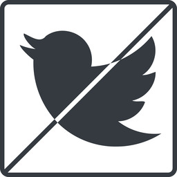 twitter thin, line, up, square, logo, brand, horizontal, mirror, social, prohibited, twitter, bird, twit free icon 256x256 256x256px