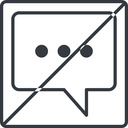 comment-square-dots-thin thin, line, square, horizontal, mirror, dots, message, prohibited, chat, comment, speech, dialogue, blablabla, blabla, bubbles, comment-square-dots-thin free icon 128x128 128x128px