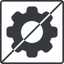 setting-solid thin, line, square, horizontal, mirror, setting, config, gear, wheel, settings, cog, prohibited, setting-solid free icon 128x128 128x128px