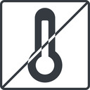 temperature-high-solid thin, line, square, horizontal, mirror, prohibited, temperature, thermometer, heat, high, temperature-high-solid, temperature-high, hot free icon 128x128 128x128px