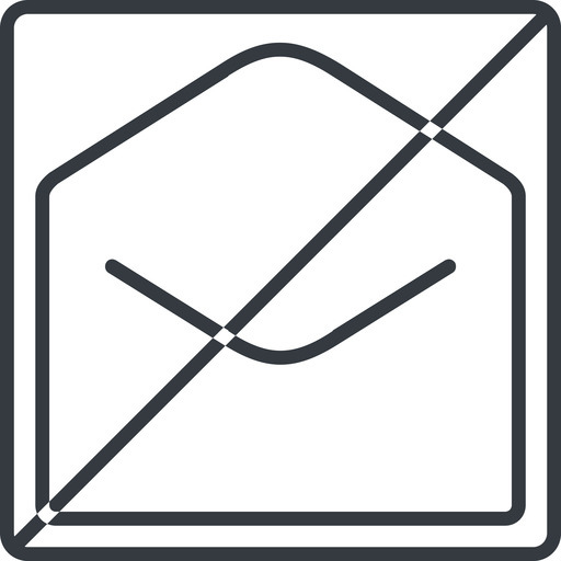 open-envelope-thin thin, line, square, horizontal, mirror, envelope, mail, message, email, prohibited, contact, open, read, open-envelope, open-envelope-thin free icon 512x512 512x512px