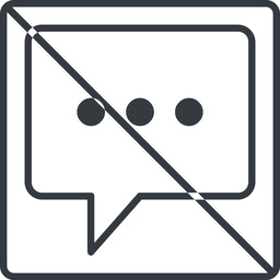comment-square-dots-thin thin, line, square, dots, message, prohibited, chat, comment, speech, dialogue, blablabla, blabla, bubbles, comment-square-dots-thin free icon 256x256 256x256px