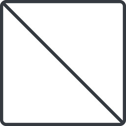 square thin, line, square, prohibited free icon 256x256 256x256px