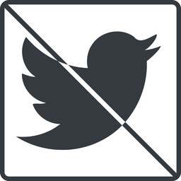 twitter thin, line, up, square, logo, brand, social, prohibited, twitter, bird, twit free icon 256x256 256x256px