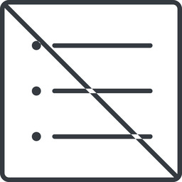 unordered-list-thin thin, line, up, square, prohibited, list, editor, list-item, checklist, unordered, unordered-list, unsorted, unsorted-list, bullet, bullet-list, unordered-list-thin free icon 256x256 256x256px