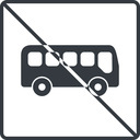bus-side thin, line, wide, square, car, vehicle, transport, prohibited, bus, side, bus-side free icon 128x128 128x128px