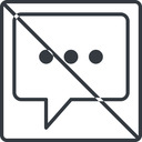 comment-square-dots-thin thin, line, square, dots, message, prohibited, chat, comment, speech, dialogue, blablabla, blabla, bubbles, comment-square-dots-thin free icon 128x128 128x128px