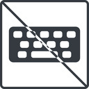 keyboard-solid thin, line, up, square, prohibited, desktop, keyboard, keypad, typing, keyboard-solid free icon 128x128 128x128px