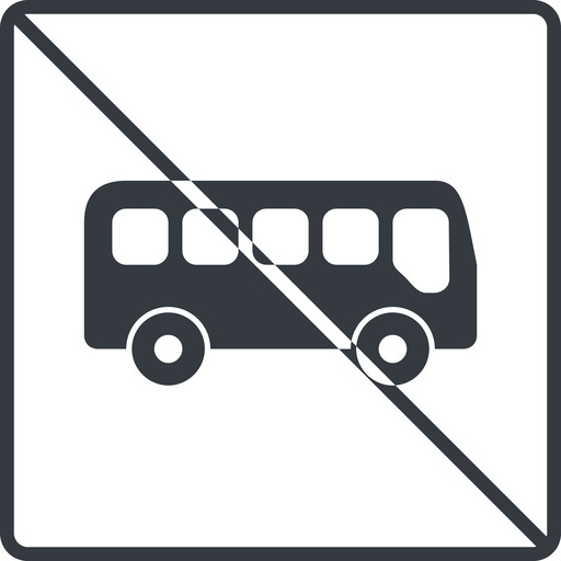 bus-side thin, line, wide, square, car, vehicle, transport, prohibited, bus, side, bus-side free icon 512x512 512x512px