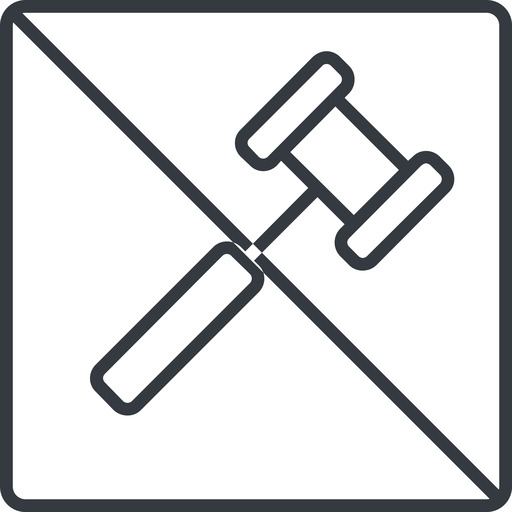 gavel-thin thin, line, square, prohibited, gavel, law, auction, hammer, judge, gavel-thin free icon 512x512 512x512px