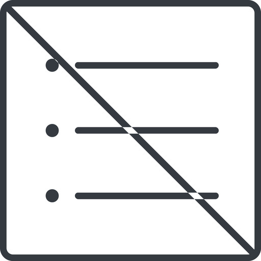unordered-list-thin thin, line, up, square, prohibited, list, editor, list-item, checklist, unordered, unordered-list, unsorted, unsorted-list, bullet, bullet-list, unordered-list-thin free icon 512x512 512x512px