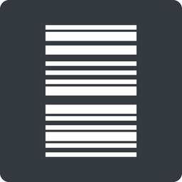 barcode-thin thin, left, solid, square, barcode, barcode-thin free icon 256x256 256x256px