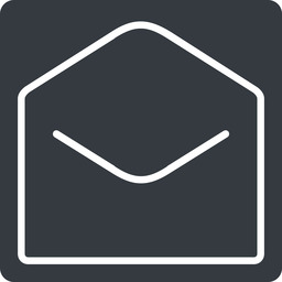 open-envelope-thin thin, solid, square, horizontal, mirror, envelope, mail, message, email, contact, open, read, open-envelope, open-envelope-thin free icon 256x256 256x256px