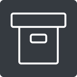 archive-thin thin, solid, square, archive, back-up, archive-thin free icon 256x256 256x256px