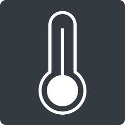 temperature-high-thin thin, solid, square, temperature, thermometer, heat, high, temperature-high-thin, temperature-high, hot free icon 256x256 256x256px