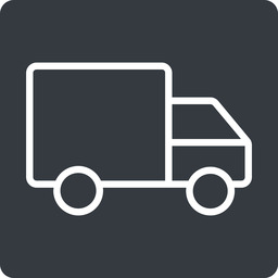 truck-thin thin, solid, square, truck, delivery, van, lorry, truck-thin free icon 256x256 256x256px