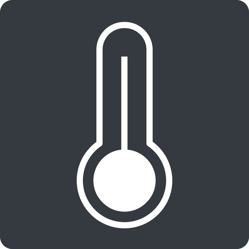 temperature-high-thin thin, solid, square, temperature, thermometer, heat, high, temperature-high-thin, temperature-high, hot free icon 512x512 512x512px