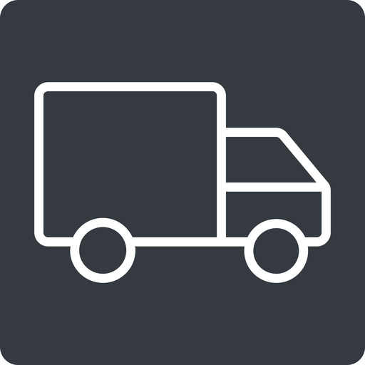 truck-thin thin, solid, square, truck, delivery, van, lorry, truck-thin free icon 512x512 512x512px