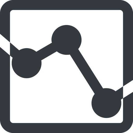 analytics-wide line, down, wide, square, horizontal, mirror, graph, analytics, chart, analytics-wide free icon 512x512 512x512px