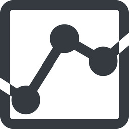 analytics-wide line, down, wide, square, graph, analytics, chart, analytics-wide free icon 256x256 256x256px