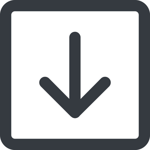arrow-simple-wide line, down, square, arrow, direction, arrow-simple-wide free icon 512x512 512x512px