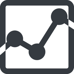 analytics-wide line, up, wide, square, graph, analytics, chart, analytics-wide free icon 256x256 256x256px