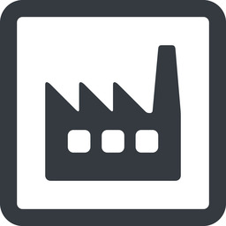 factory-window line, wide, square, factory, industry, window, factory-window free icon 256x256 256x256px