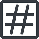 hashtag-wide line, wide, square, social, hashtag, hashtag-wide free icon 128x128 128x128px