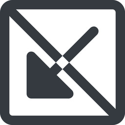 arrow-corner-solid line, down, wide, square, arrow, prohibited, corner, arrow-corner-solid free icon 256x256 256x256px