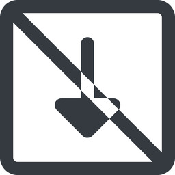 arrow-solid line, down, wide, square, arrow, prohibited, arrow-solid free icon 256x256 256x256px