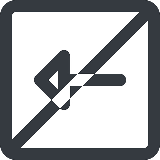 arrow-wide line, left, wide, square, arrow, prohibited, arrow-wide free icon 512x512 512x512px