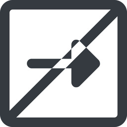 arrow-solid line, right, wide, square, arrow, prohibited, arrow-solid free icon 256x256 256x256px