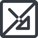 arrow-corner-wide line, right, wide, square, arrow, prohibited, corner, arrow-corner-wide free icon 128x128 128x128px
