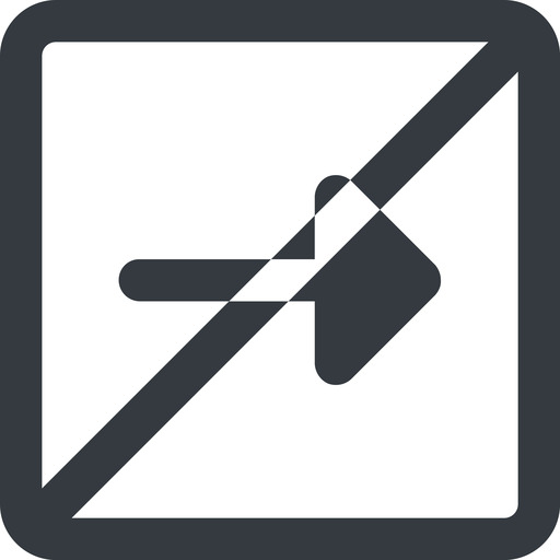 arrow-solid line, right, wide, square, arrow, prohibited, arrow-solid free icon 512x512 512x512px