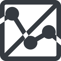 analytics-wide line, up, wide, square, horizontal, mirror, graph, analytics, chart, prohibited, analytics-wide free icon 256x256 256x256px