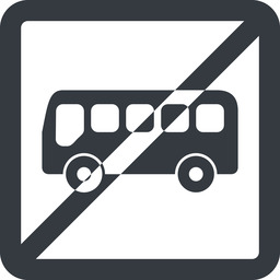 bus-side line, wide, square, horizontal, mirror, car, vehicle, transport, prohibited, bus, side, bus-side free icon 256x256 256x256px