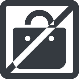 shopping-bag-solid line, wide, square, horizontal, mirror, prohibited, shopping, cart, market, handbag, bag, bags, shopping-bag, shopping-bag-solid free icon 256x256 256x256px