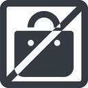 shopping-bag-solid line, wide, square, horizontal, mirror, prohibited, shopping, cart, market, handbag, bag, bags, shopping-bag, shopping-bag-solid free icon 128x128 128x128px