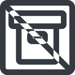 archive-wide line, wide, square, prohibited, archive, back-up, archive-wide free icon 256x256 256x256px