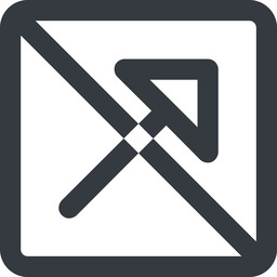 arrow-corner-wide line, up, wide, square, arrow, prohibited, corner, arrow-corner-wide free icon 256x256 256x256px