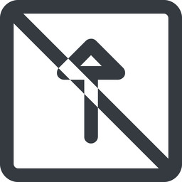 arrow-wide line, up, wide, square, arrow, prohibited, arrow-wide free icon 256x256 256x256px