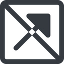 arrow-corner-solid line, up, wide, square, arrow, prohibited, corner, arrow-corner-solid free icon 128x128 128x128px