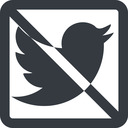 twitter line, up, wide, square, logo, brand, social, prohibited, twitter, bird, twit free icon 128x128 128x128px